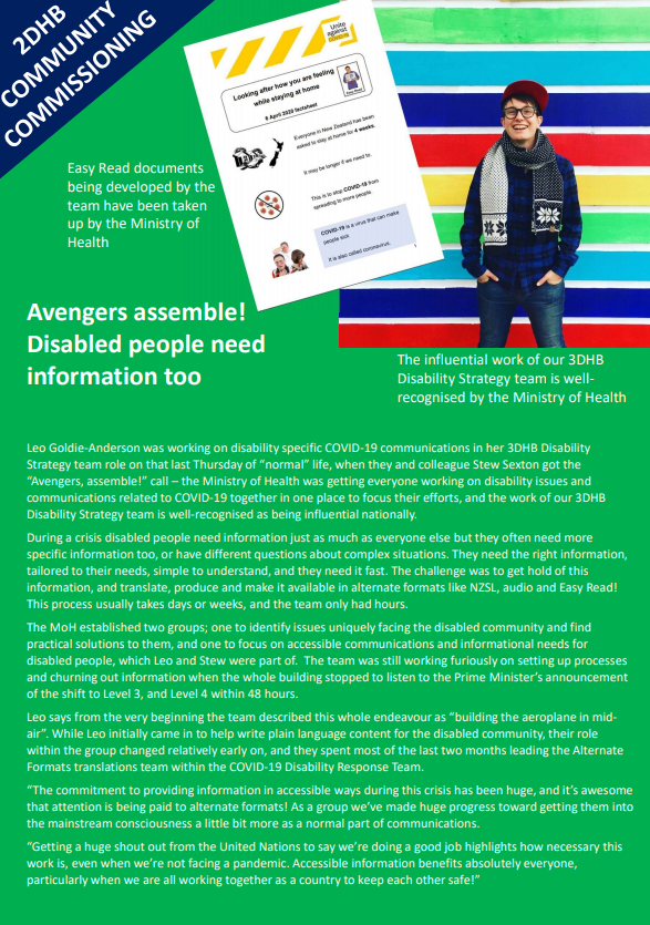 Avengers Assemble - Disabled people need information too