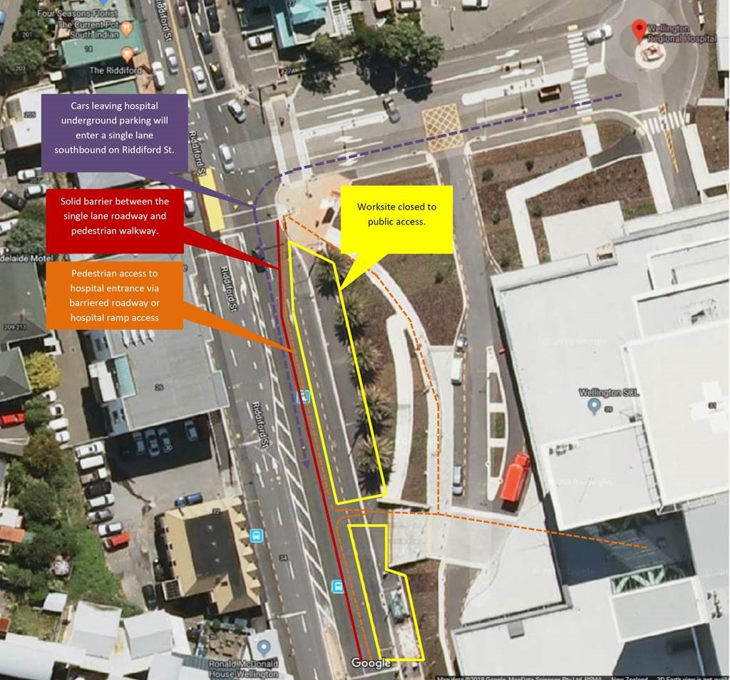 Map of bus hub construction