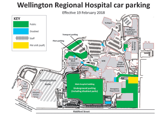 Patient and visitor parking changes at Wellington Regional ...